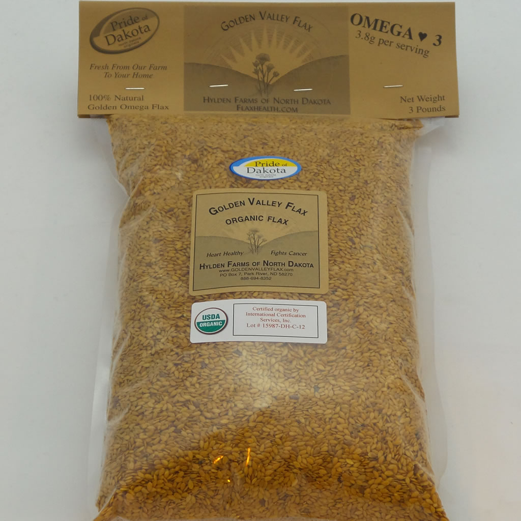 Golden Valley Organic Flax one 3 lb bag A