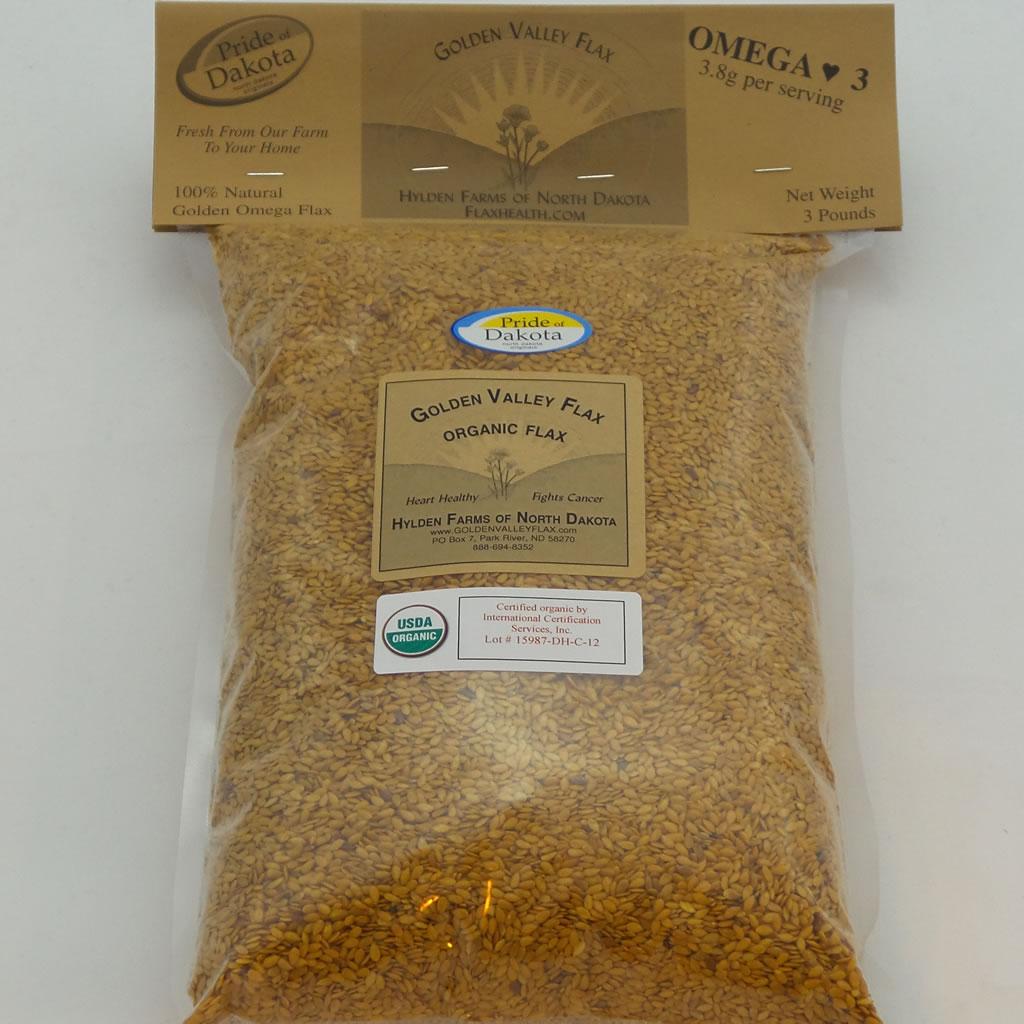 Golden Valley Organic Flax one 3 lb bag A
