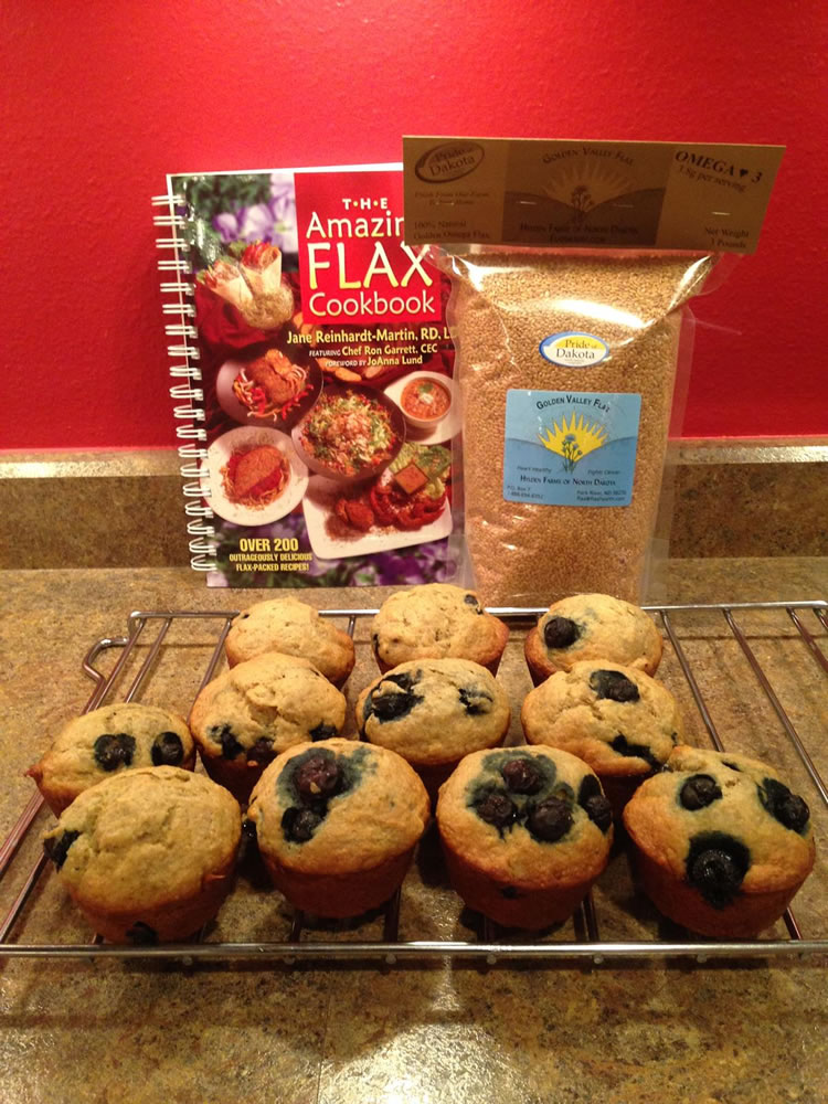 Blueberry Muffins and Golden Valley Flax
