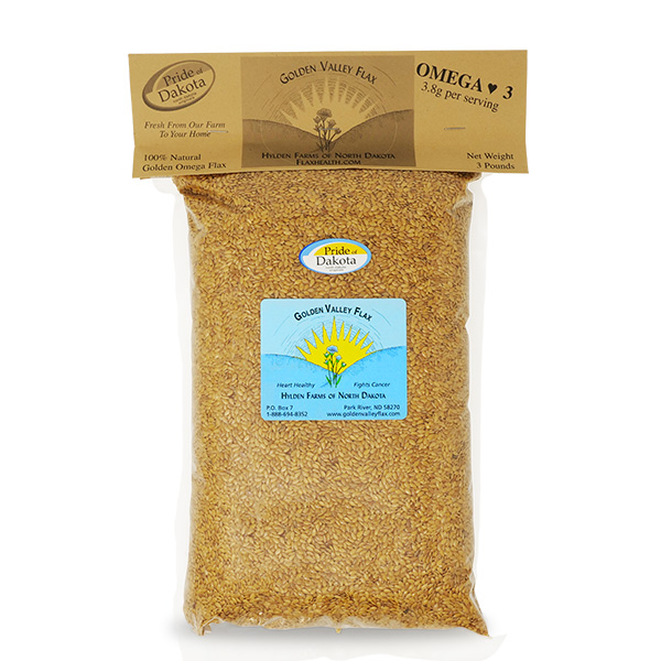 natural whole flax 3 lb bag