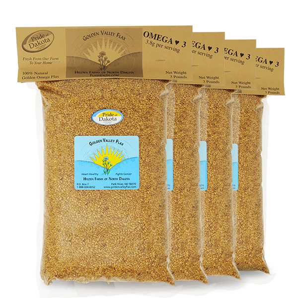 Natural Golden Valley Omega Whole Flax 4 Bags
