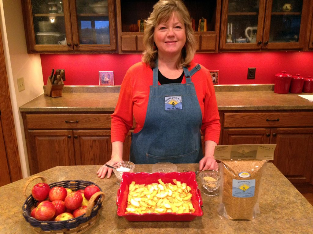 Esther Hyldan's Apple-Flax Pudding Recipe