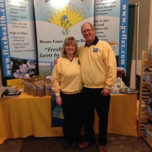 Esther and Mark promoting Golden Valley Flax and how flax boosts the immune system