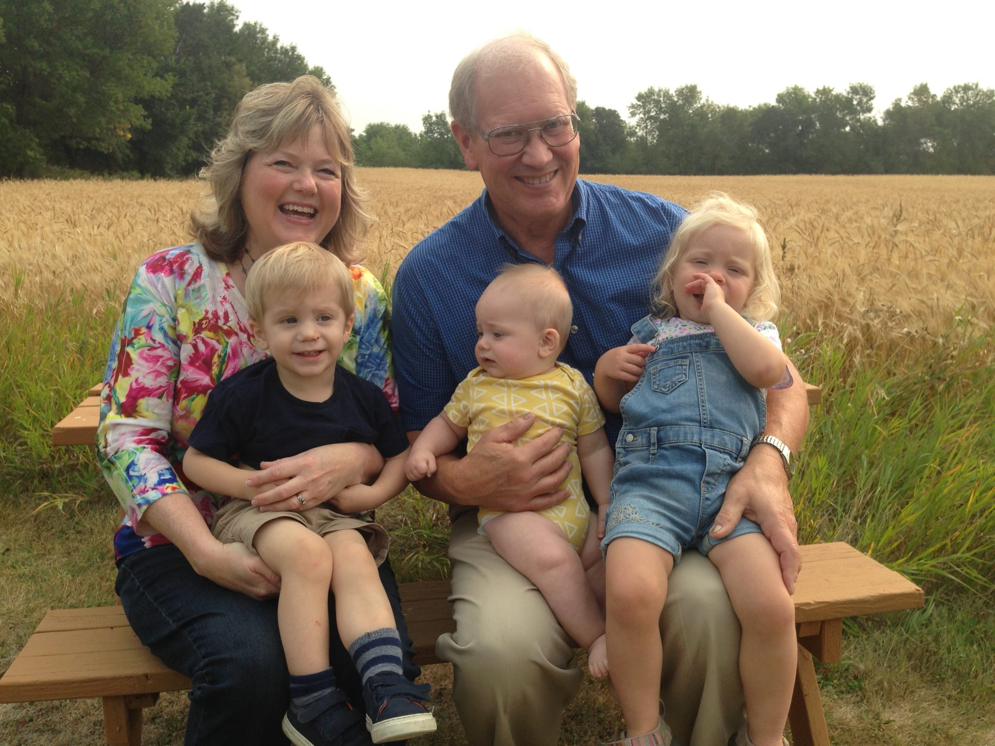Esther and Mark Hyden with grandchildren