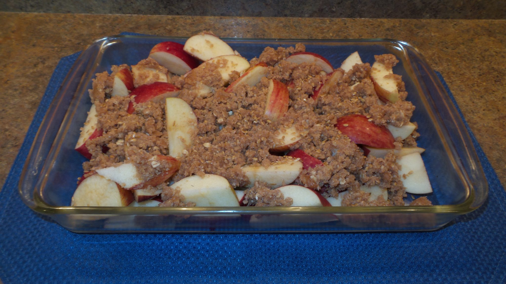 Apple-Flax Crisp ready to bake