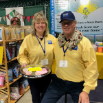 Esther and Mark promoting flax