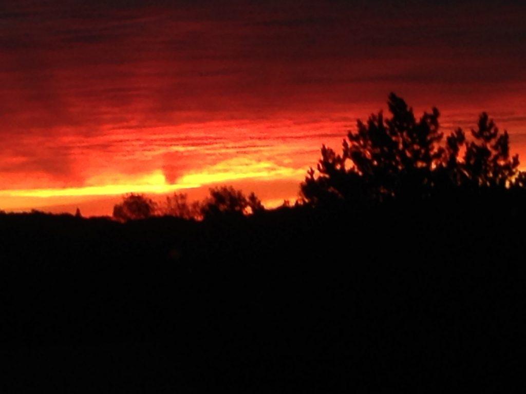 Hylden Farm sunrise