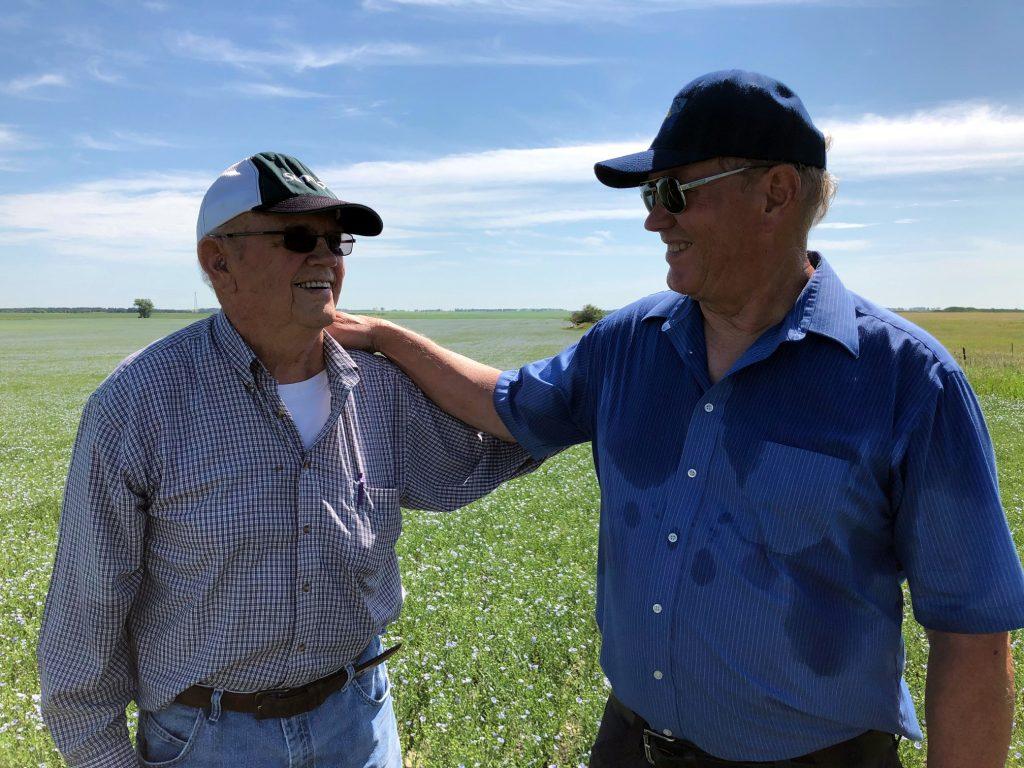 Grandpa Don's last flax harvest