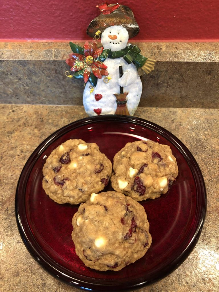 Oatmeal Flax Cranberry Cookies