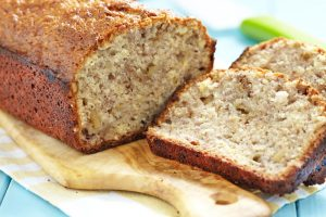 Flax Banana Bread Sliced