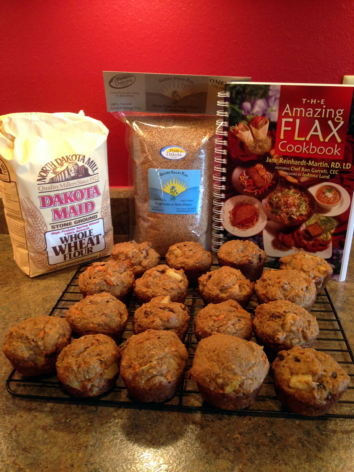 Cindy's flax muffins