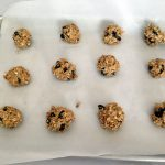 Flax Energy Bites on Baking Pan