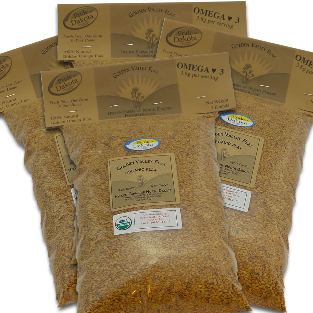 Golden Valley Organic Flax 4 Bags