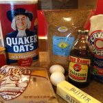 Ingredients for molasses oatmeal flax chewies