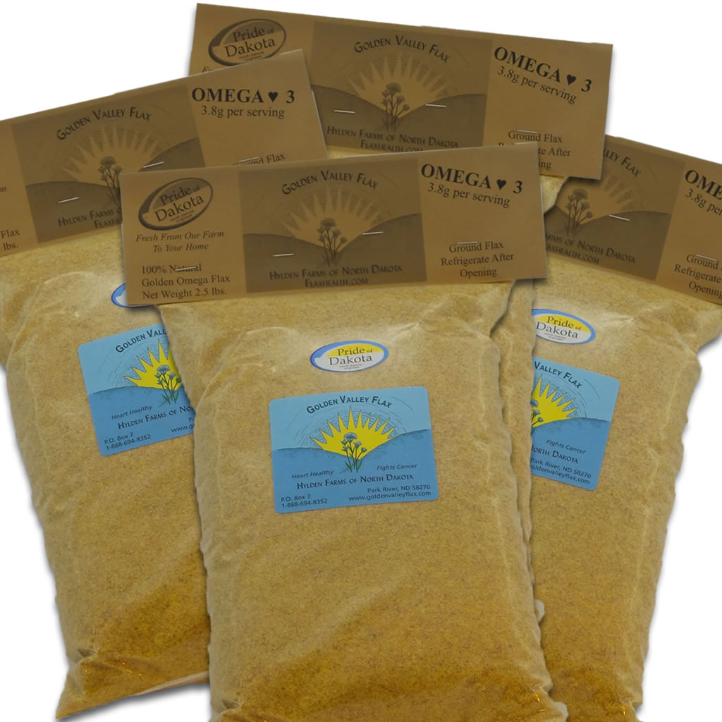 Natural Golden Valley Omega Ground Flax 4 Bags