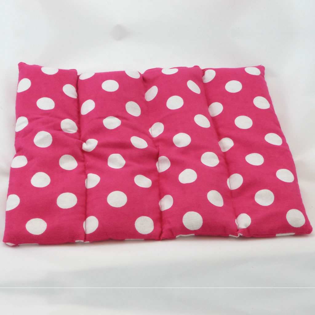 flax pax therapeutic back light red with white dots