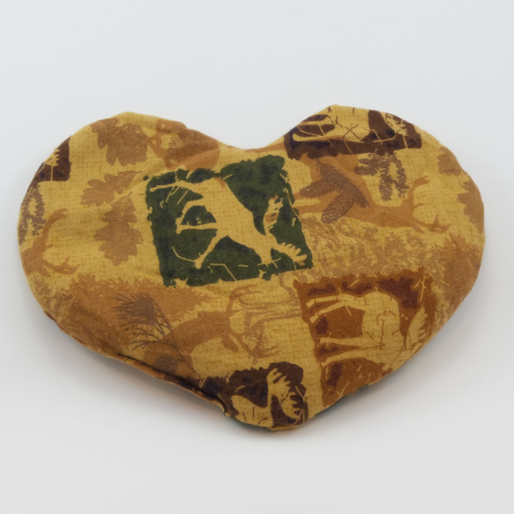 flax pax therapeutic brown heart pillow