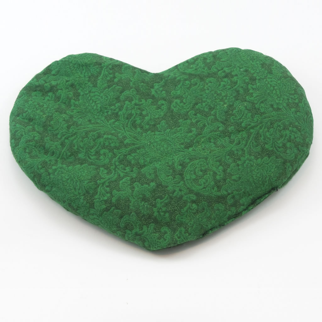 flax pax therapeutic green heart pillow