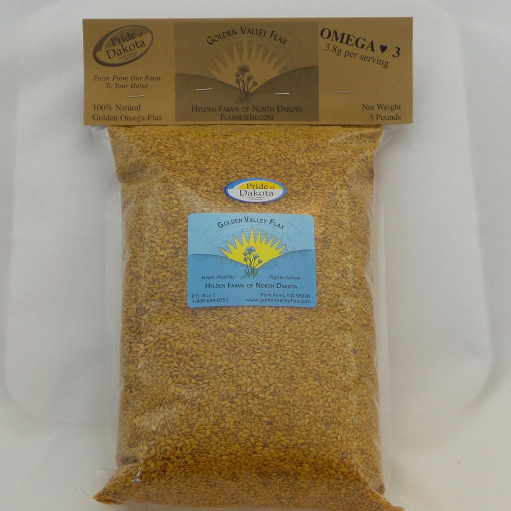 natural whole flax 3 lb bag